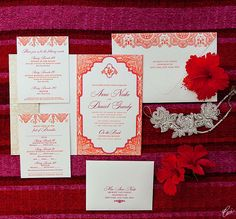 Our Muse - Wedding Invitations - Be inspired by Anne & Daniel's beach wedding in Mexico at Esperanza Resort, Cabo San Lucas, Mexico - invitations, letterpress printing, wedding