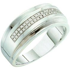 Share and get $20 off your order of $100 or more. 0.15 Carat (ctw) 10k White Gold Round Diamond Men's Hip Hop Anniversary Wedding Band - Dazzling Rock #https://www.pinterest.com/dazzlingrock/