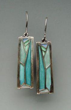 Carly Wright -  Champlevé enameling on Sterling Glass Jewelry, Metal Jewelry, Pandora Jewelry, Enamel Jewelry, Unique Jewelry, Jewelry Art, Jewelry Crafts, Fine Jewelry, Jewelry Design
