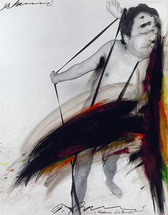 Arnulf Rainer, Schaum und Furcht (Shame and Terror) 1972 Crayon and Oilstick Over Photograph 23.25 x 18.5 inches