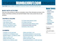 Numbernut.com: math activities