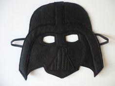 Felt Darth Vader style mask for children by MummyHughesy on Etsy https://www.etsy.com/uk/listing/162045046/felt-darth-vader-style-mask-for-children