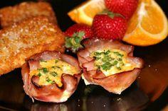 Breakfast Ham * http://xny.co/2013/08/breakfast-ham-cups/
