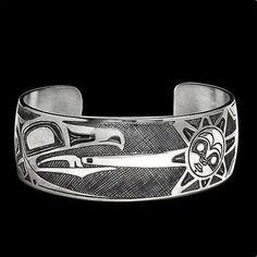 Raven Sun Bracelet | Cuff | Sterling Silver | Danny Dennis