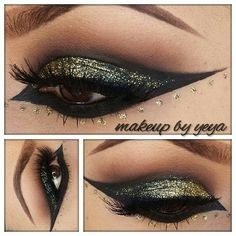 Arabic inspired gold glitter! It's all in the details!