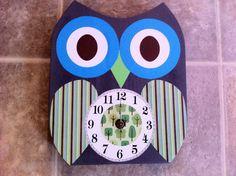 Wooden Owl Clock