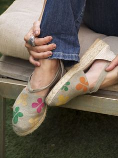 So Chic! Hand painted espadrilles by La Casa de la Playa