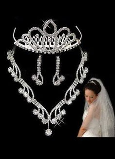 Luxury Transparent Alloy Rhinestone Wedding Jewelry Set - Wedding Jewelry - Accessories