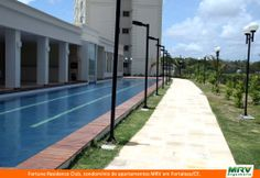 Piscina e Paisagismo do Fortune Residence Club. Condomínio fechado da MRV Engenharia em Fortaleza/CE.