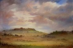 John Martin, English Countryside, Watercolours, Paintings, Landscape, Painting Art, Painting, Landscape Paintings, Painted Canvas