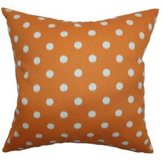 The Pillow Collection Rennice Ikat Dots Cotton Pillow & Reviews | Wayfair
