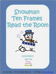 Snowman Ten Frames Read the Room
