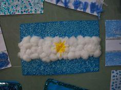 Banderas Argentinas: Ideas de cómo hacerlas con material descartable Argentina Flag, Flower Mound, Reggio Emilia, South America, Ideas Para, Crafts For Kids, Frame, Google, Educational Crafts