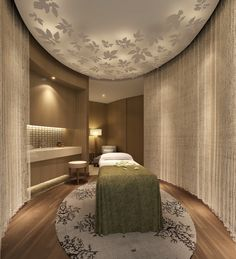 Beautiful spa treatment room