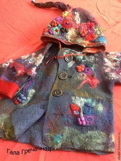 Одежда для мальчиков, ручной работы. Валяное пальто для мальчика и девочки