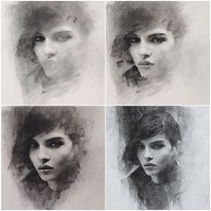 "Stages of ""Collar"". Charcoal on paper #art #charcoal"