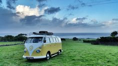 Parking Allowed - A VW van parked in a field in the the Dingle Peninsula, Ireland