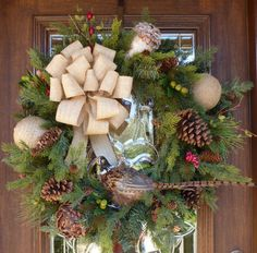 Woodsy Evergreen CHRISTMAS Wreath with PHEASANT and by decoglitz