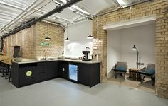 The small rooms with chairs would be good for phone calls  Coworking Space - Club Workspace Bankside, London, UK