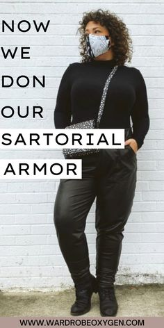 What is sartorial armor? It is what you put on to feel strong, feel fierce, feel ready for the battle of life. | fall fashion | turtle nexk | leather pants | crossbody bags | work outfits | black outfits | best fall fashion | afforadable fashion #fashion #fall #womensfashion #sartorialarmor Chic Black Outfits, Work Outfits, Casual Outfits, Rocker Chic Outfit, Fashion Fashion, Autumn Fashion, Edgy Dress, Edgy Chic, Working Woman