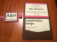 Rustic Wedding Invitation by Just Two Crafty Sisters, via Flickr
