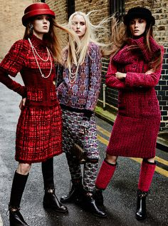 the fall: alice gilbert, maddie demaine, roxy just and natalie feltham by david roemer for marie claire uk september 2016 - Chanel