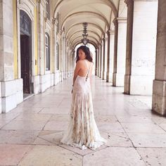 The beautiful @tinaleung shows off her natural charm wearing a #RobertoCavalli dress in Lisbon! #CavalliCrew