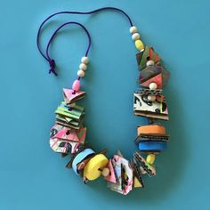 up-cycled junk necklaces for kids by mini mad things