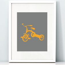 Salt & Paper - printable stationery & art - Tricycle - 8x10 art