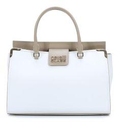 wardow.com - Tasche von Roberto Cavalli, Class Maggie Handtasche Leder weiß 33 cm