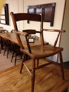 Two lovely matching Antique Windsor Scroll back Carver Chairs. Very sturdy and comfortable chairs. Beautiful colour and patination.