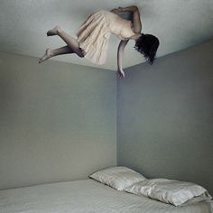 Insomia. A typical use of levitation effect in ghost movies, very spooky yet excellent work! (Image Source: delila)