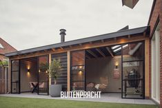 Pool House Designs, Backyard House, Getaway Cabins, Budget Patio, Roof Structure, Patio Roof, Simple Colors, Home And Garden, Outdoor Structures