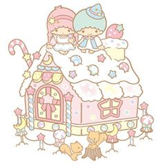 Cute  Kawaii Sanrio Little Twin Stars Kiki  Lala Sweet Pastel House