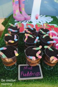 Peppa Pig Party - The Creative Mummy Mud puddings