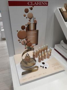 Make up foundation Pos Display, Display Design, Display Shelves, Makeup Display, Cosmetic Display, Cosmetics Display Stand, It Cosmetics Foundation, Premium Coffee, Makeup Store