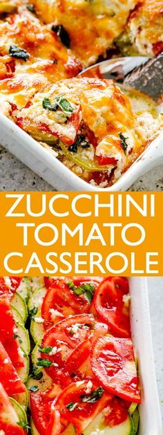 Zucchini Tomato Casserole – Layers of baked Zucchini and Tomatoes coated with a creamy, cheesy blend and loaded with flavor! Serve it as a tasty appetizer, side dish, or a delicious vegetarian dinner. Healthy Recipes, Vegetable Recipes, Vegetarian Recipes, Cooking Recipes, Vegetarian Casserole, Cheap Recipes, Vegetarian Side Dishes, Vegetarian Appetizers, Fast Recipes