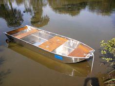 Алюминиевая рыбацкая лодка - Лодка с плоским дном