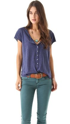 Free People Ex Boyfriend Tee, Color navy heather, either xs or s $58 women fashion, cloth, style, boyfriend tee, ankle boots, free peopl, casual outfits, people, boyfriends
