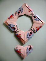 "INTERFERENTE...artistice si diverse. : Origami crafts:How to make an ""Origami Hearths Frame""/Cum sa confectionezi o rama origami din 4 inimioare"
