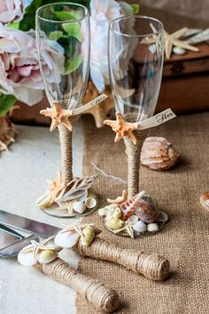 36 Wedding Glasses Decor Ideas For Your Big Day Rustic Style WeddingsBeach