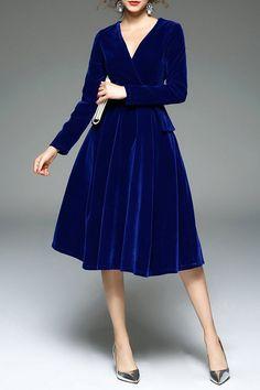 royal blue velour dress