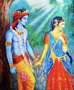 Young best friend Radha Krishna