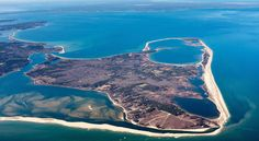 "Norton Point Beach on Martha's Vineyard, MA | ""After an eight-year hiatus, drivers may once again take cars from Edgartown to Chappaquiddick via Norton Point, now that the ""Breach"" has closed."""