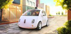 Prototyp des Google-Autos (Zeichnung): In sechs bis acht Jahren unausweichlich