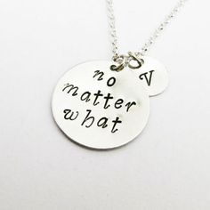 No Matter What Necklace, Personalized Jewelry, Personalized I..