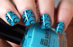 Image detail for -blue, cute, nail polish, nails, pretty - inspiring picture on Favim ...