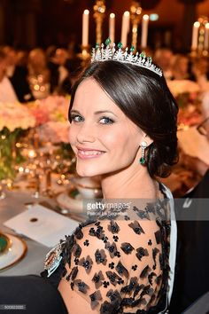 Princess Sofia  of Sweden attends the Nobel Prize Banquet 2015 at City Hall on December 10, 2015 in Stockholm, Sweden.