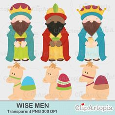 Items similar to Wise Men Christmas Nativity Cute Christmas Digital Clipart for Invitations, Card Design, Scrapbooking, and Web Design on Etsy Christmas Jesus, A Christmas Story, Christmas Holidays, Christmas Cards, Quilted Christmas Ornaments, Christmas Nativity, Colorful Pictures, Clipart, Craft Projects