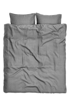 Washed linen duvet cover set - Grey - Home All | H&M IE 1